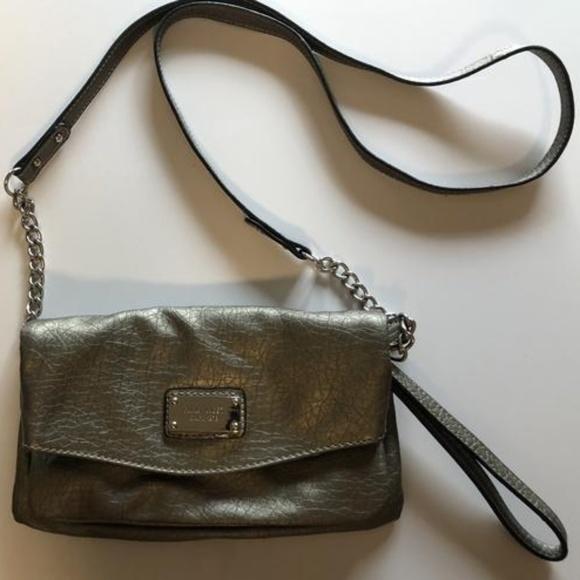Nine West Handbags - Small Gray Nine West Crossbody Purse